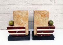 Anciens serre-livres marbre Art deco | style classique chic
