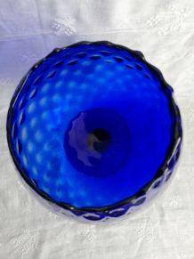 Coupe italienne vase bleu cobalt
