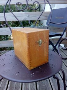 Boite à fiches en bois