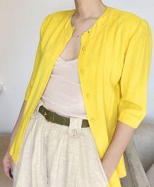 Chemise vintage jaune
