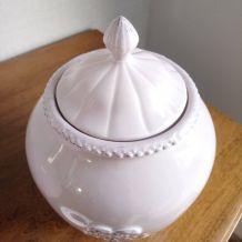 Pots en céramique rose poudré décor Shabby Chic