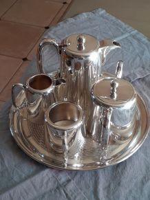 Service à thé et café anglais en argent