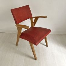 Chaise vintage rouge 60's