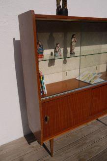 Meuble bibliothèque vitrine,  beau vintage, en l'état