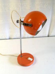 Lampe de table Eyeball orange – années 60