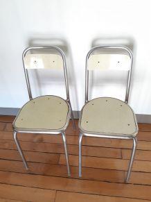 Lot de 2 chaises formica vintage