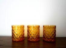 Lot de 3 verres vintage