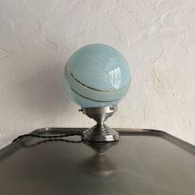ANCIENNE LAMPE A POSER EN VERRE DE CLICHY 1950 VINTAGE