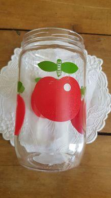 Ancien pot sucrier pommes Henkel vintage