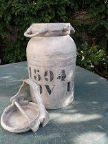 Bidon de lait ancien en  alu  30à33 litres hauteur 48 cm