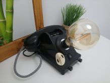 "LAMPE A POSER RECUP' ""TELEPHONE VINTAGE"""