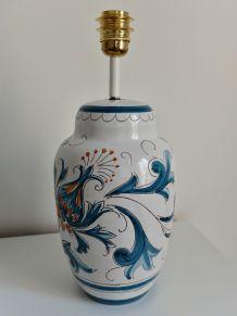 Pied de lampe céramique fleuri