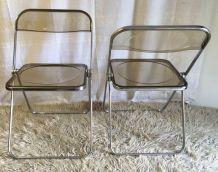 Lot de 2 Chaises pliantes modèle « Plia » pour Castelli – an