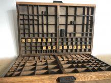 Ancien casier d'imprimerie HAMILTON