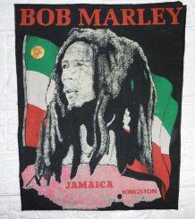 Toile tissée coton «Bob Marley» Vintage 80's