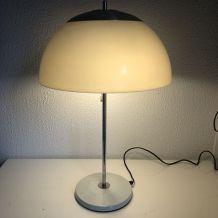 Lampe champignon ivoire Unilux vintage 1960 - 58 cm