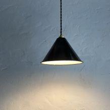 LOT 2 LAMPES SUSPENSIONS EMAILLEES CONIQUES INDUSTRIELLES