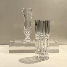 Lot de 2 vases en cristal