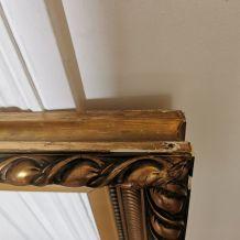 Grand Cadre miroir époque XXeme feuille d'or