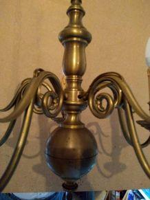 lustre en bronze doré