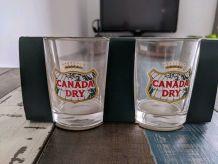 Verre à eau vintage canada dry