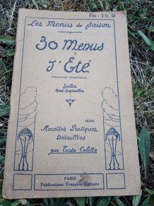 livre ancien de recettes