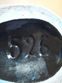 vase  disign 1960 signe 29x16