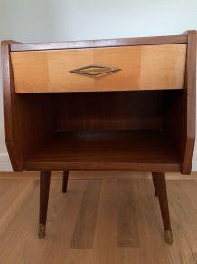 Table de chevet vintage, années 60