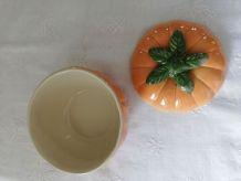 Pot citrouille en céramique vintage