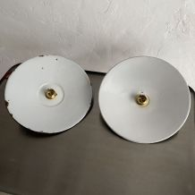 LOT 2 SUSPENSIONS INDUSTRIELLES PLATES 24 cm