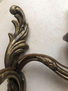 3 appliques en bronze style Louis XV