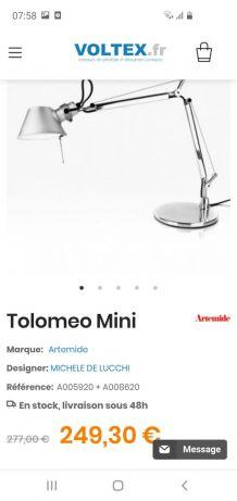 Lampe de table artemide Tolomeo Tavola mini