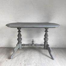 Table patine grise vintage
