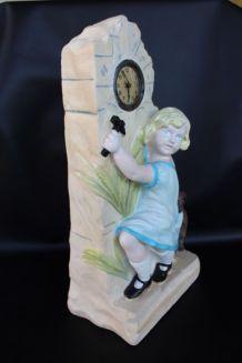 Statue horloge années 30