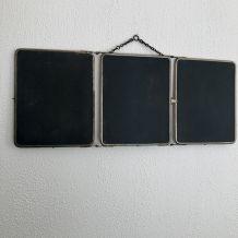 Miroir triptyque barbier Le Solide Paris vintage 1930 - 30 x