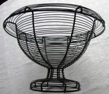 Vintage : coupe en fil métallique tressé, forme Médicis