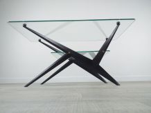 Table basse design italien Angelo Ostuni années 70 vintage