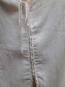caraco blanc vintage neuf pur coton froissé