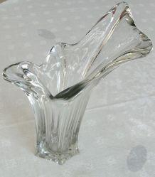 Vase en cristal des années 60-70