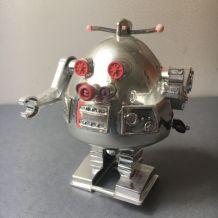 ANCIEN JOUET MECANIQUE SOVIETIQUE PETIT ROBOT  CCCP