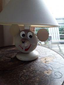 Lampe souris en bois pour enfant  1960