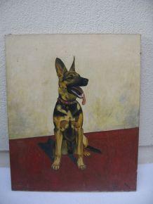 Ancien tableau chien