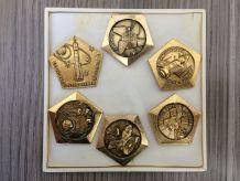 Broches commémoratives conquête spatiale russe