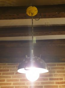 Suspension passoire douille céramique jaune