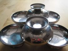 6 coupes a glaces inox vintage