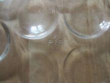 3 Assiettes a escargots en verre pyrex France  ancien vintag