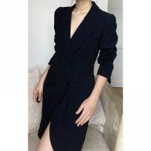 Vintage long vest jacket