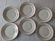6 assiettes plates  Moulin des Loups