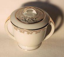 Sucrier porcelaine retro Limoges France