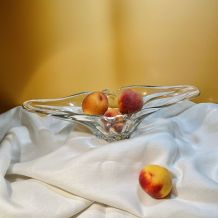 Coupe de fruits en verre cristal